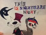 Beelze and Night sings This is Nightmare night by Beelzeskull06