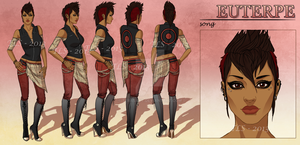 Euterpe - Character Reference Sheet by TeraSArt