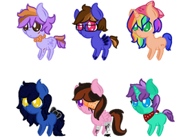 Collab Chibi Pony Adoptables 3/6 OPEN by ghostiibear