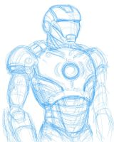 Iron Man incomplete by Armadria