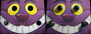 ALICE'S CHESHIRE CAT FOOTPEDAL by sickdelusion