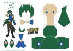 Mainichi no Uta Papercraft by yujilono