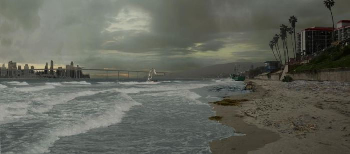 Matte Painting - Beach WIP by CGStirk