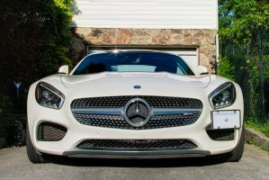 White AMG GTS by SeanTheCarSpotter