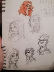 Girl faces by Crazymystery
