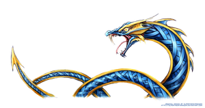 Jormungandr Sea Serpent Design by slifertheskydragon
