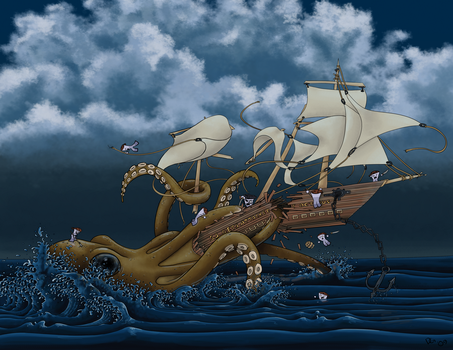 S.S.Gets Attacked by Octopus by Vorgus