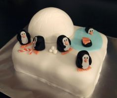 Penguin Cake by sparks1992