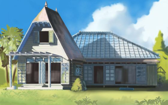 Totoro House by FruitPunchSamurai13