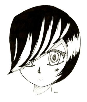 Emo kid-black and white by AnimeGriffin