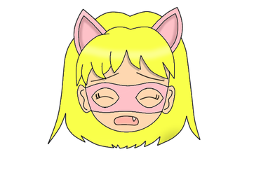 Pink Pussycat Chibi Face 4 by laprasking