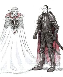 Sketch/ The king and the warrior by Juli556