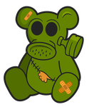 Toxic Teddy - A Post-Apocalyptic Toy by octofinity