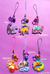Zodiac Cat Charms (2/2) by whinges