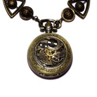 Steampunk Necklace - POCKET WATCH by CatherinetteRings