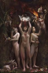 Hecatean Gates of Blood Fire and Water by Mitchellnolte