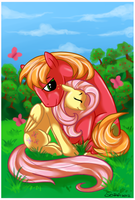Butterflies and Apples by Black-Namer