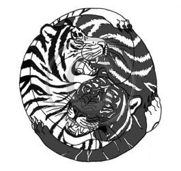 Tiger YinYang by ivorydragoness