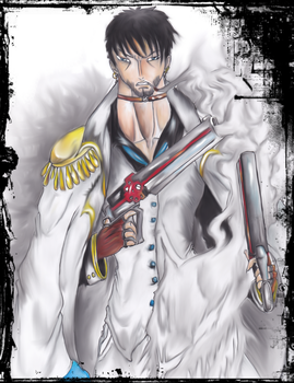 One piece  Vice Admiral Castiel el lobo Lethem by Darkmoonlady07