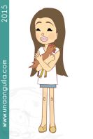 Girl and chicken by electra-gretchen