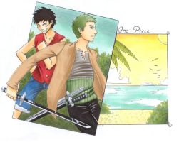 +Zoro and Luffy+ by Arcirithwen