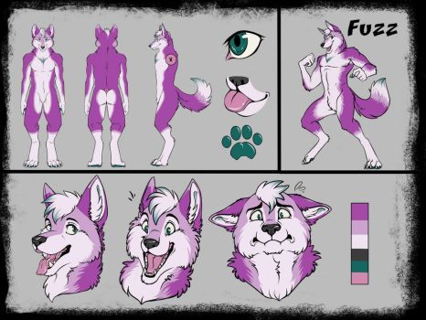 Fuzz's ref sheet! by Keevanw