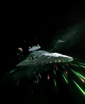 Imperial II Class Star Destroyer by wraithdt