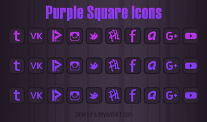 Purple Square Icons by Zmei-Kira