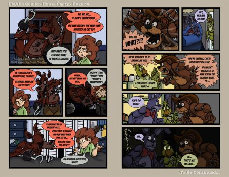 FNAF4 Comic - House Party - Page 08 - 5-20-16 by Mattartist25