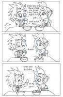 Zack and Cloud nacho comic by Ninja-Chic