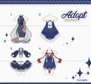 [Adopt Auction] Outfits #4 CLOSE by QuinnyIlada