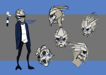 Mass Effect Animation: Kid Garrus Design by Caleb-Riley