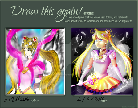 DRAW THIS AGAIN MEME Sailor Moon by DoodleSmasher101