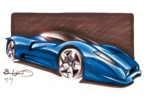 Ferrari P4 5 sketch by emrEHusmen