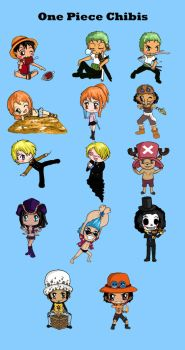 One Piece Chibis by IcyPanther1