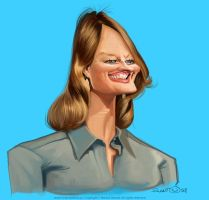 Jodie Foster caricature by nelsonsantos