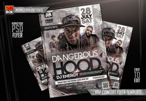 Rap Concert Flyer Template by AndyDreamm