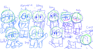 Tried to draw as much South Park oc's by Cocolovespizza