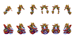 Sheet Expansion: Ride Chaser sprites (Turnaround) by CommandMissionFan