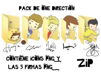 Pack de 1Direction ICONS y Firmas PNG! by LuuTomlinson1D