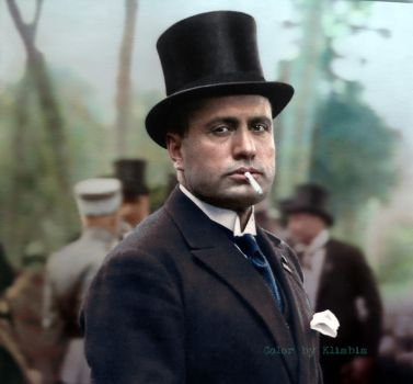 Benito Mussolini by klimbims