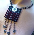 Red Cell Phone Necklace by Divulged