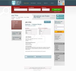 job search site layout by ishee