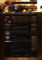 Web Design - Guild Wars 2 by Shizoy