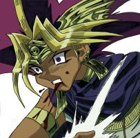 Atem Drawing Colored by EgyptianDragon1