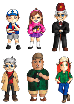 Gravity Falls chibis 1 by lordbatsy