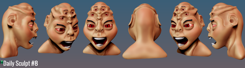 Daily Sculpt 8 - Multiple personality. by KritwanBlue