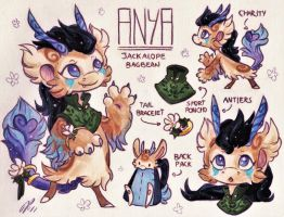 Anya Ref. Sheet [Commission w/ Outfit Design] by Baraayas