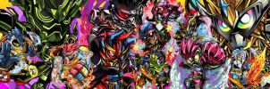 KR Ex-Aid Dual Monitor Wallpaper by ashmish