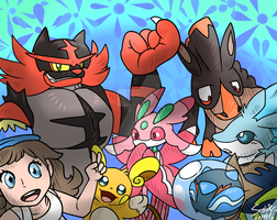 My Pokemon Moon Team!